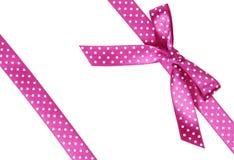 Duas fitas cor-de-rosa com curva Fotografia de Stock