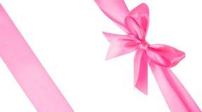 Duas fitas cor-de-rosa com curva Imagens de Stock
