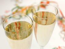 Duas flautas de champanhe Fotografia de Stock
