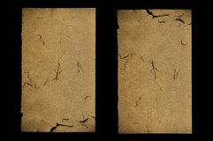 Duas folhas com rachaduras Imagem de Stock Royalty Free