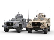 Duas forças armadas todos os veículos táticos da armadura da luz do terreno ilustração royalty free