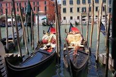 Duas gôndola em Veneza Fotos de Stock Royalty Free