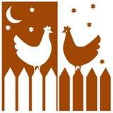 Duas galinhas Fotos de Stock Royalty Free
