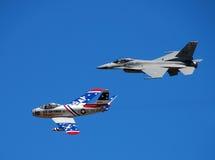 Duas gerações de jetfighter dos E.U. Imagem de Stock