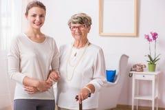Duas gerações de mulheres imagem de stock