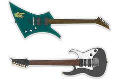 Duas guitarra bonitas Fotografia de Stock Royalty Free