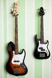 Duas guitarra elétricas Foto de Stock Royalty Free