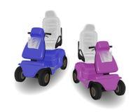 Duas ilustrações do 'trotinette' da mobilidade Imagens de Stock Royalty Free