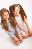 Duas irmãs Imagem de Stock Royalty Free