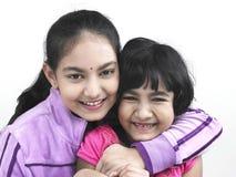 Duas irmãs asiáticas da origem indiana Fotos de Stock