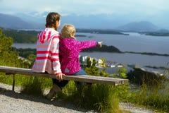 Duas irmãs das meninas Fotos de Stock Royalty Free