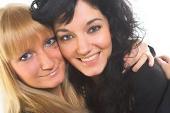 Duas jovens mulheres imagens de stock