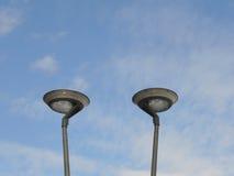 Duas lâmpadas de rua Fotografia de Stock Royalty Free