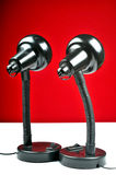 Duas lâmpadas que vêem o futuro Foto de Stock Royalty Free