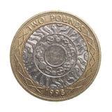 Duas libras de moeda Fotografia de Stock Royalty Free