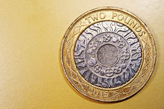 Duas 2 libras Penny British Currency Sterling Coin Imagens de Stock