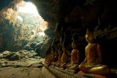 Duas luzes na caverna Imagem de Stock