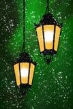 Duas luzes na noite Imagem de Stock