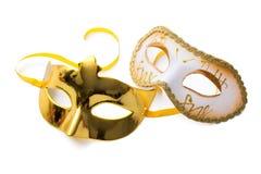 Duas máscaras do carnaval Imagem de Stock