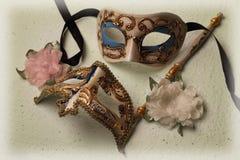 Duas máscaras Venetian Fotografia de Stock