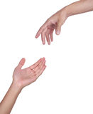 Duas mãos Fotos de Stock