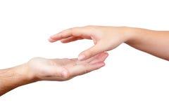 Duas mãos foto de stock
