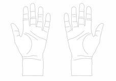 Duas mãos abrem Imagem de Stock Royalty Free