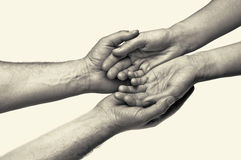 Duas mãos - confiança Foto de Stock Royalty Free