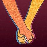 Duas mãos da posse ilustração royalty free