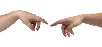 Duas mãos isoladas fotos de stock