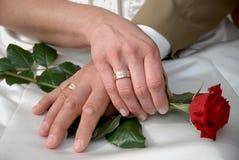 Duas mãos no amor Fotografia de Stock