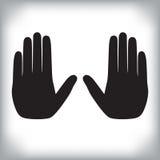 Duas mãos que mostram o gesto da parada Imagem de Stock