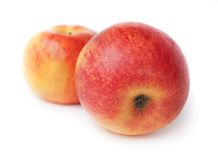 Duas maçãs Fotografia de Stock
