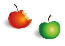 Duas maçãs Imagem de Stock