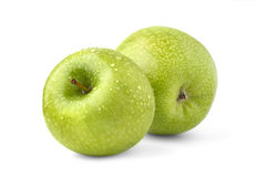 Duas maçãs verdes Fotos de Stock Royalty Free