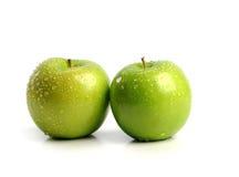 Duas maçãs verdes Fotografia de Stock Royalty Free