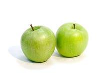 Duas maçãs verdes Fotografia de Stock