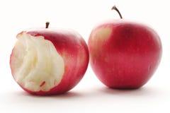 Duas maçãs vermelhas fotografia de stock royalty free
