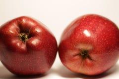Duas maçãs vermelhas fotografia de stock