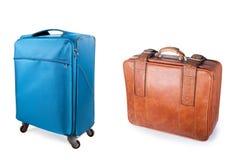 Duas malas de viagem Fotografia de Stock Royalty Free
