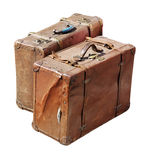 Duas malas de viagem antigas Imagens de Stock Royalty Free
