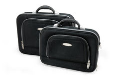Duas malas de viagem pretas Foto de Stock Royalty Free