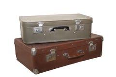 Duas malas de viagem velhas Imagem de Stock