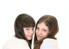 Duas meninas adolescentes Fotos de Stock Royalty Free
