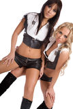 Duas meninas bonitas dançam a dança 'sexy' Foto de Stock Royalty Free