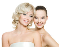 Duas meninas bonitas felizes Fotografia de Stock Royalty Free