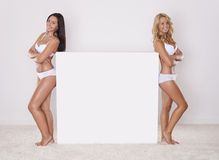 Duas meninas da beleza Foto de Stock