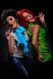 Meninas com pirulitos Fotografia de Stock Royalty Free