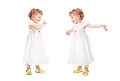 Duas meninas emocionais Imagem de Stock Royalty Free