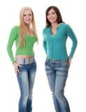 Duas meninas felizes Foto de Stock Royalty Free